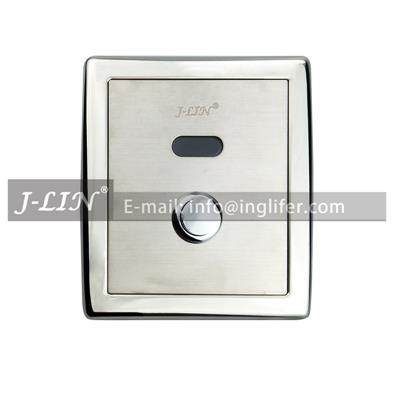 ING-9306 Automatic Toilet Flusher - with Mechanical Button - Self Cleaning & Touchless & DC