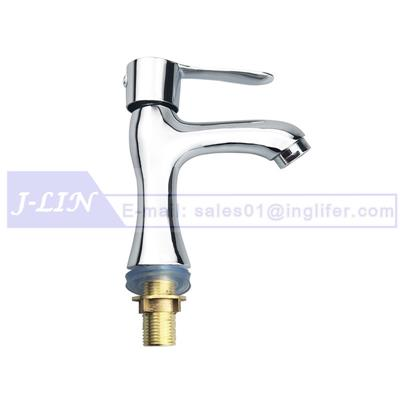 ING Classic Sink Kitchen Faucet Modern Single Handle - Solid Brass & Chrome Finish - Bathroom Basin Taps Hot/Cold Water