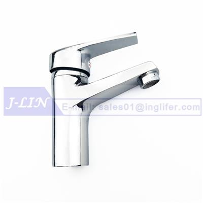ING-9111 Basin Faucet Washbasin Taps -Deck Mounted Type Home Kitchen Bathroom Sink Manual Water Flows Tap with Drainer Hose Modern Design